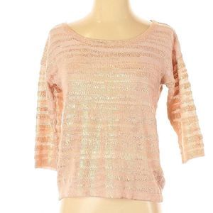 [9-11] H&M | pink & gold striped knit sweater